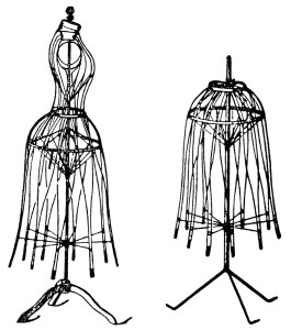 antique dress form, black and white clipart, halls bazaar form, old fashioned skirt form, vintage sewing clip art, vintage magazine ad