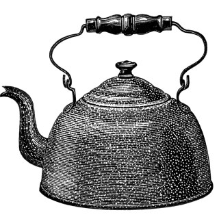 Enamel on Steel Kettle ~ Free Vintage Clip Art