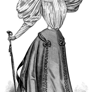 Victorian Ladies' Fashion 1895 ~ Free Clip Art Image