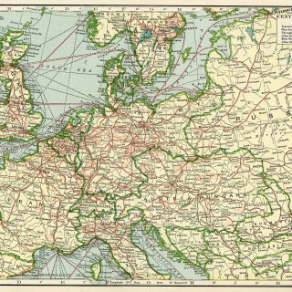 Central Europe Vintage Geography Map ~ Free Digital Image