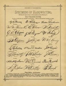 old book page, penmanship examples, vintage handwriting sample, vintage school printable, digital graphics free