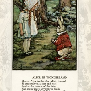 Alice in Wonderland ~ Vintage Storybook Image