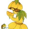 old book page, elizabeth gordon, vintage flower children poem, buttercup flower child, vintage storybook illustration,