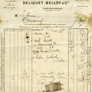 Antique French Receipt ~ Free Image