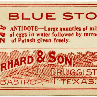Vintage Blue Stone Poison Label ~ Free Clip Art