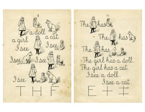 shabby ephemera free, vintage school book page, old school reader graphics, grunge paper digital, yellow aged lesson page