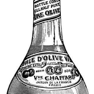 French Olive Oil ~ Free Vintage Clip Art
