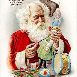 Free Vintage Santa Christmas Postcard Image