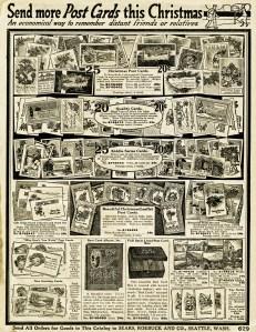 sears roebuck catalog, vintage Christmas postcard, vintage advertising graphic, Christmas printable, old catalogue page