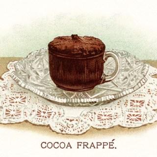 Cocoa Frappe ~ Free Vintage Illustration
