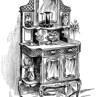 Antique Sideboard Cabinet – Free Clipart