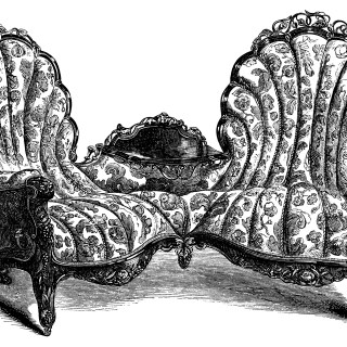 Victorian Furniture Sofa and Chair ~ Free Clip Art