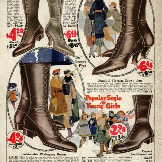 Old Fashioned Ladies' Shoes ~ Free Vintage Image