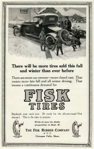antique car graphics, free black and white clip art, old magazine ad, vintage transportation clip art, fisk tires winter scene