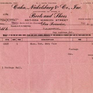 Pink Invoice ~ Free Vintage Graphic