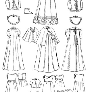 Infant's Wardrobe ~ Free Vintage Clip Art