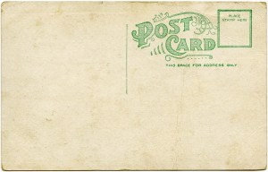grunge paper graphic, old paper image, shabby postcard digital, Victorian ephemera free, vintage postcard back red green