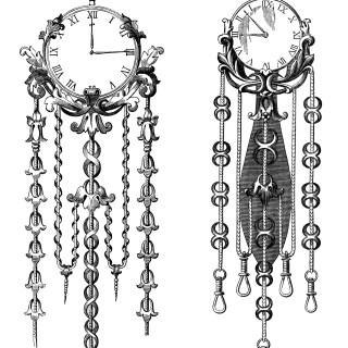 Victorian Clocks ~ Free Clip Art