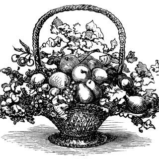 Basket of Fruit ~ Free Clip Art