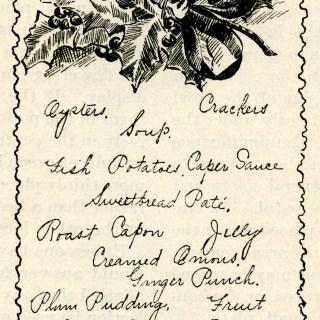 A Christmas Menu ~ Free Vintage Clip Art