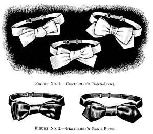 black and white clip art, gentlemen's bow tie illustration, old fashioned necktie, Victorian mens fashion, vintage bow band,