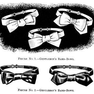 Gentlemen's Bow Ties ~ Free Vintage Clip Art