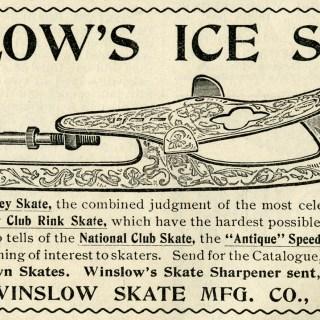 Winslow's  Ice Skates ~ Free Clip Art