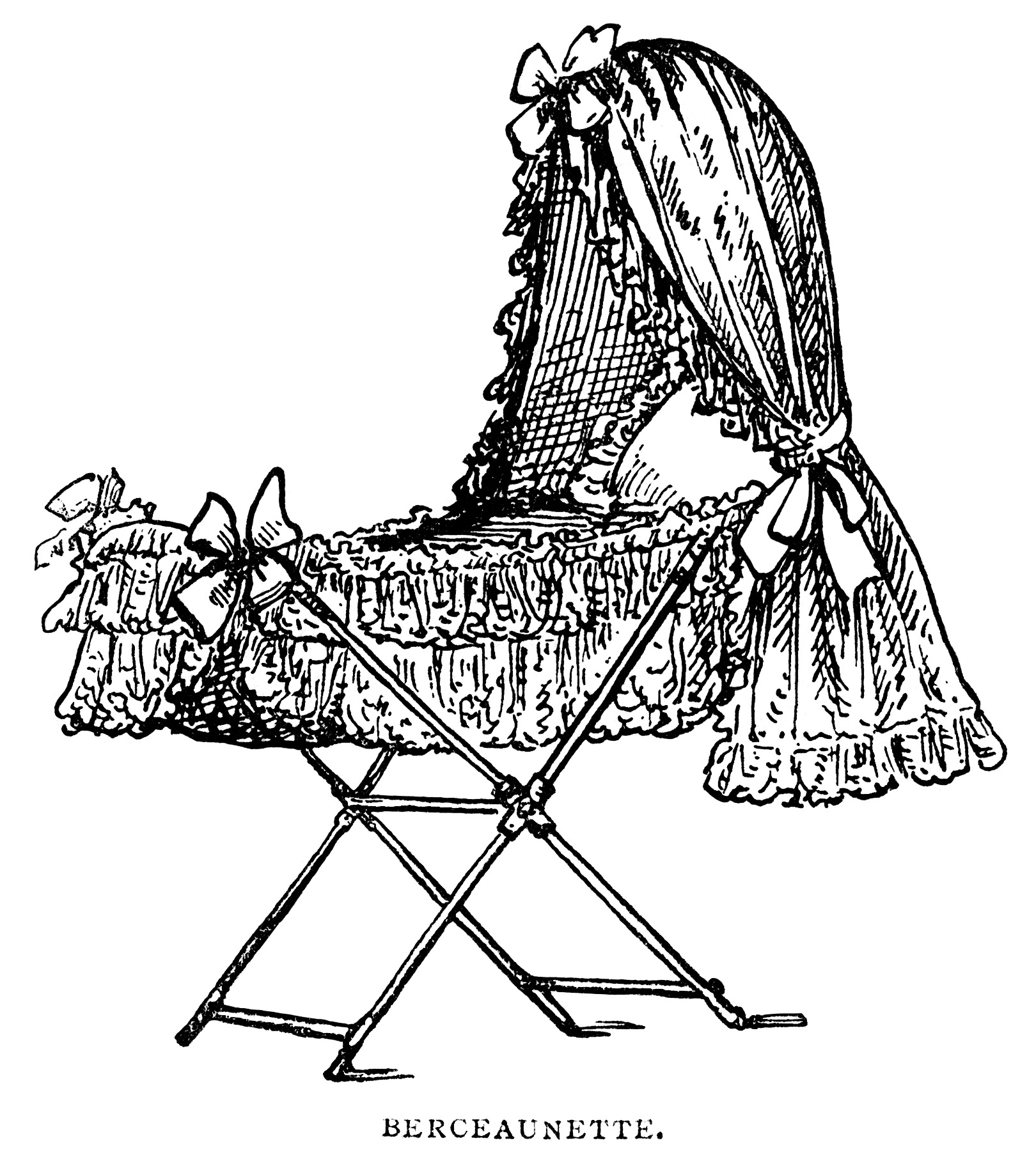victorian baby bassinet free