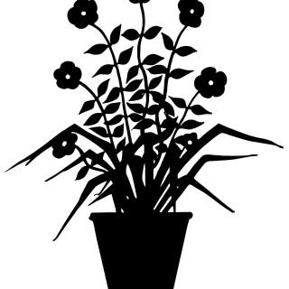 Flowering Plant Silhouette ~ Free Vintage Image