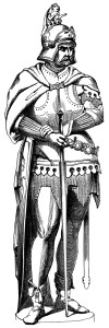 armor figure, soldier statue illustration, roman soldier clip art, black and white graphics, antique military engraving