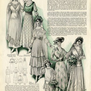Easter Bride and Attendants ~ Free Vintage Clip Art
