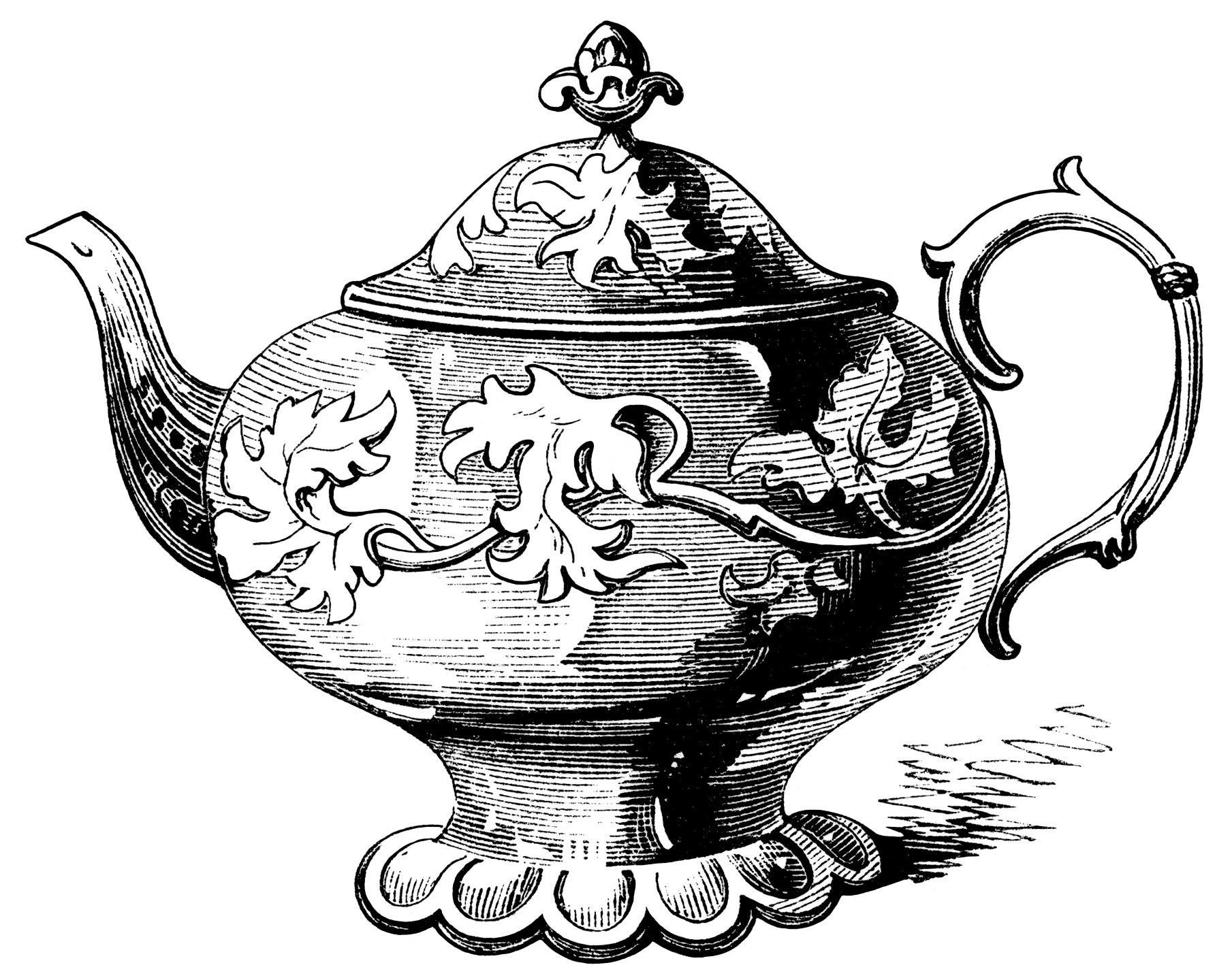 elegant tea pots free victorian
