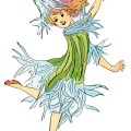 Ragged Robin flower child, Elizabeth Gordon, old book page, vintage flower children poem, vintage storybook printable