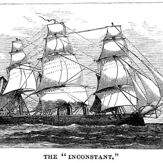 The Inconstant Sailing Ship ~ Free Vintage Clip Art