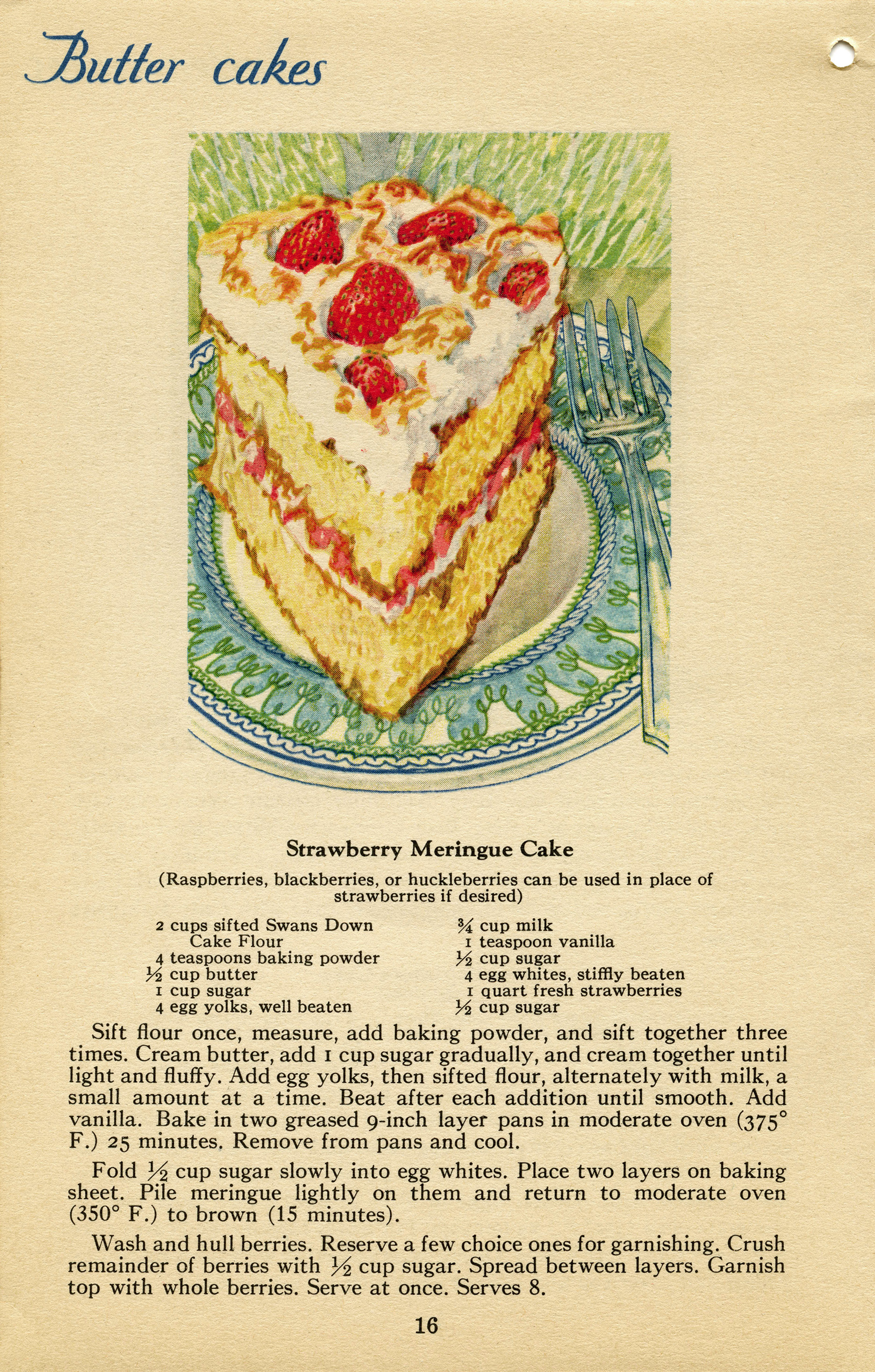Free Cake Design Books : Strawberry Meringue Cake ~ Free Vintage Graphics Old ...