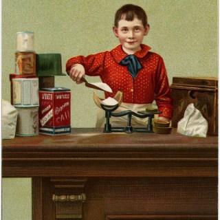 Playing Grocer ~ Free Vintage Image