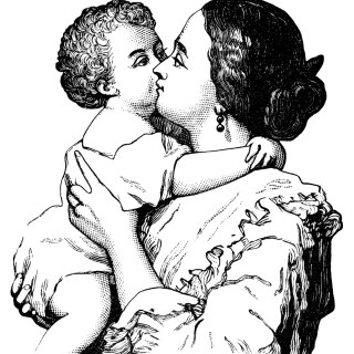 Victorian Mother and Baby ~ Free Clip Art