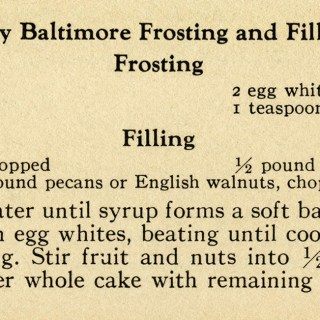Vintage Frosting and Filling Recipes