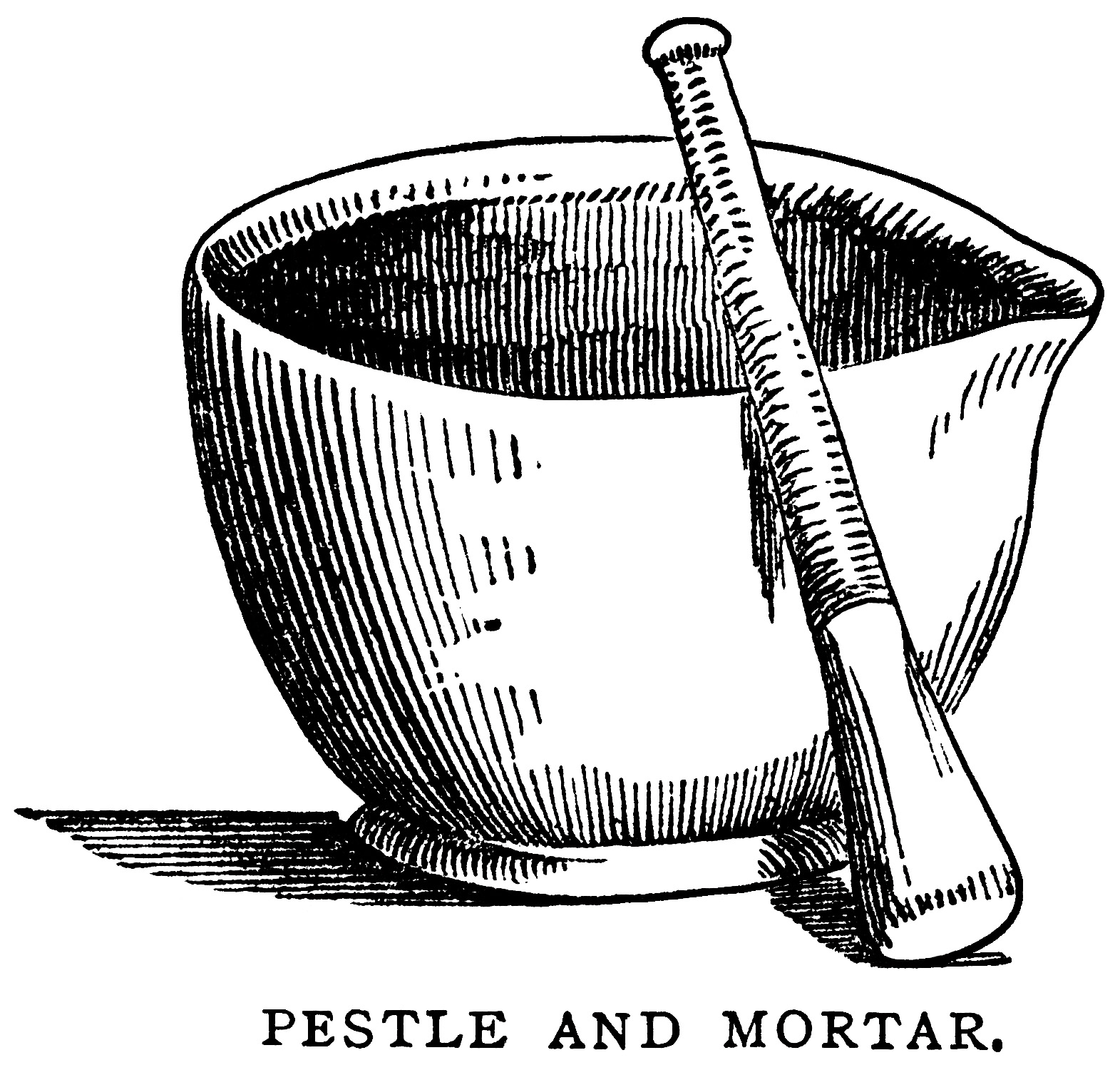 mortar pestle clip art, black and white graphics, vintage food ...
