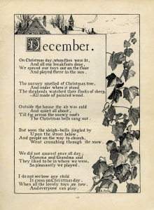 December poem, Katherine Pyle poetry, vintage christmas poem, black and white graphics, Christmas printable