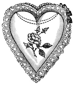 heart shaped cushion, black and white graphics, heart clip art, valentine heart to color, vintage heart printable