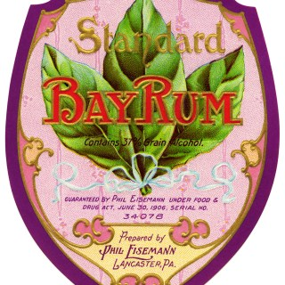 Bay Rum, vintage label, vintage ephemera, digital rum label, free vintage graphics