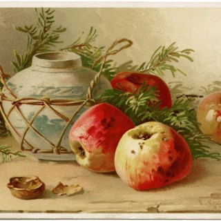 Catherine Klein Apples and Vase Display