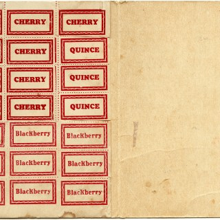vintage canning, canning label, cherry, blackberry, quince, kitchen ephemera, jar label, vintage preserve label