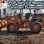 Case W18, W20 Wheel Loader Service Manual (PIN 9123139 & Below)