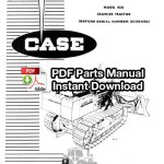 Case 450 Crawler Tractor Parts Manual (S/N 3038436 & Below)