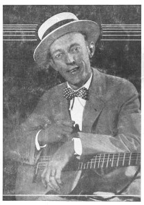 Jimmie Rodgers in the 1920s. From the cover of the Jimmie Rodgers Album of Songs.