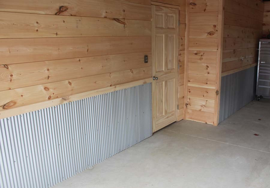 Creating a finished garage on a shoestring budget for Diy garage cost