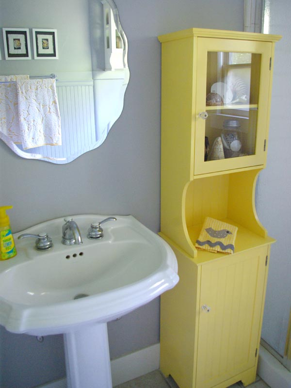 Grey And Yellow Bathroom Redo Oleander Palm