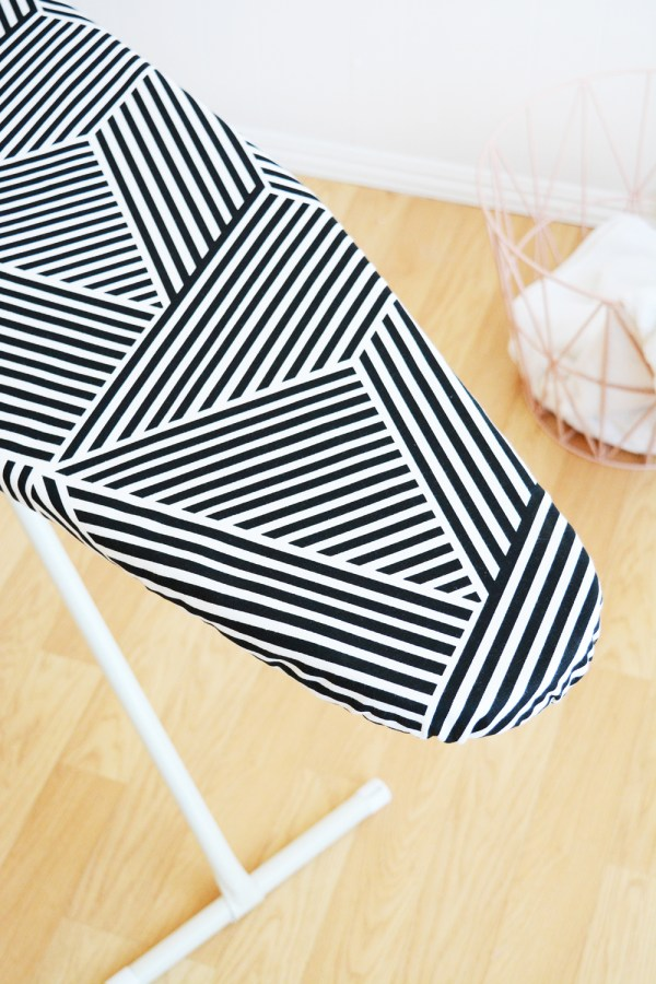 Free ironing board cover pattern with easy to follow step-by-step instructions.